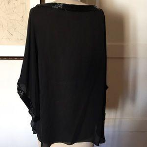 Tory Burch Tops - Tory Burch Silk Chiffon Beaded Bell sleeve too sz6